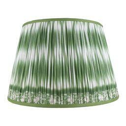 """Boho Chic Ikat Printed Lamp Shade 14"""", Asparagus For Sale - Image 3 of 3"""
