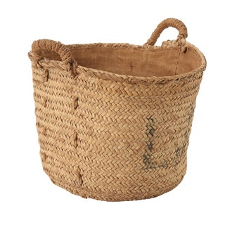 20th Century Spanish Schumacher Fruit Basket With Natural Fibers For Sale