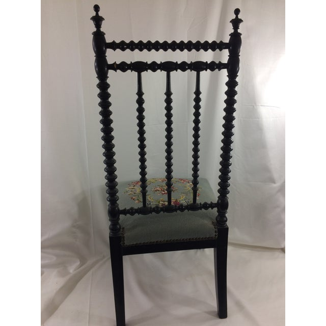 Napoleon Ebonized Spindle Chair For Sale - Image 5 of 9