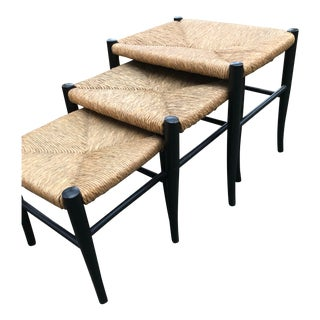 Vintage Gio Pointi Manner Nesting Stools- Set of 3 For Sale
