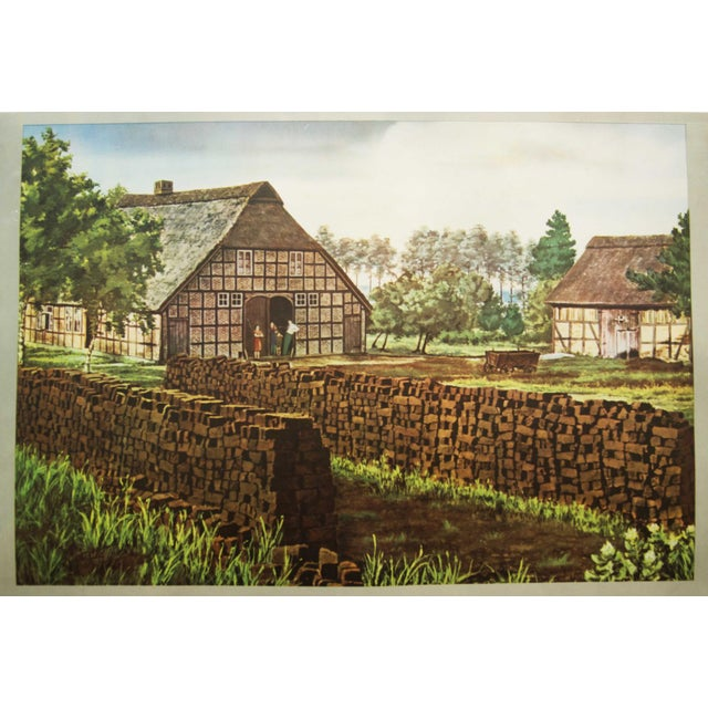 German vintage peat removal school poster For Sale - Image 6 of 7
