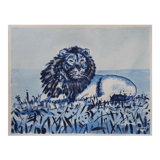 Lion Safari Painting by Cleo Plowden For Sale