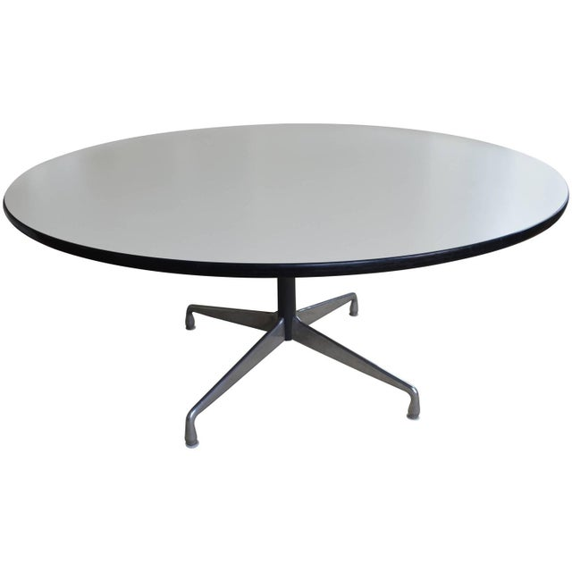 Mid-Century Oversized Round Dining Table - Image 1 of 8