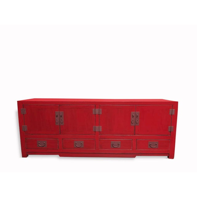 Early 21st Century Asian Elm Shanghai Tv Cabinet For Sale - Image 5 of 5