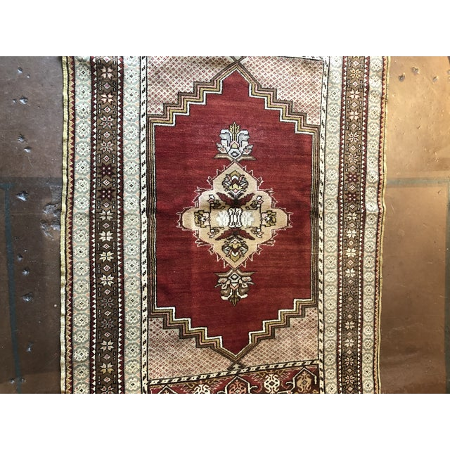 Islamic Antique Turkish Wool Rug For Sale - Image 3 of 7