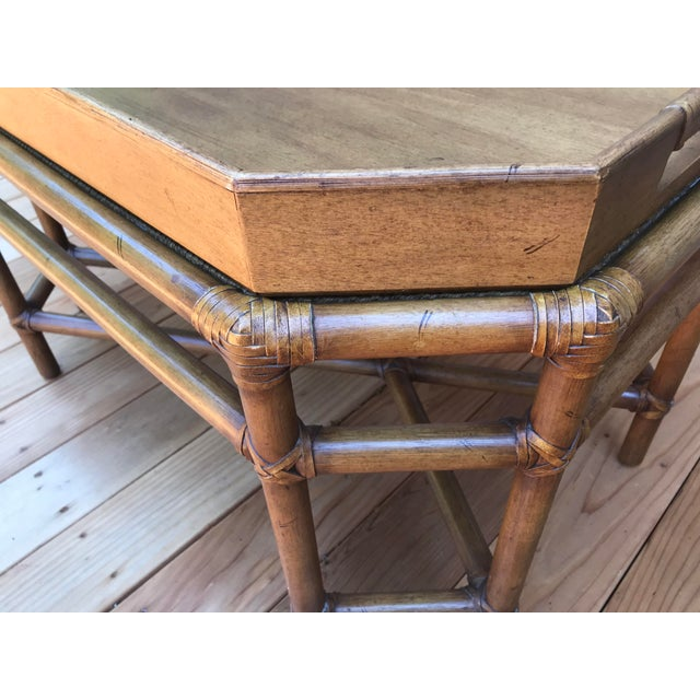 Asian McGuire Bamboo & Fruitwood Coffee Table For Sale - Image 3 of 9