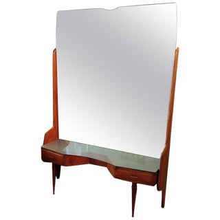 Vittorio Dassi Vanity Console Table with Mirror, Italy, 1950s For Sale