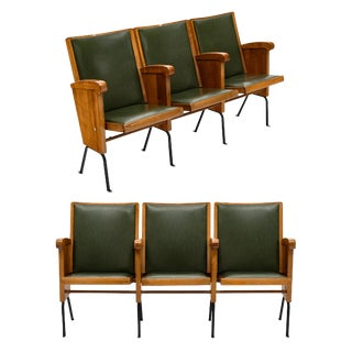 French Vintage Theater Seats For Sale