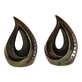 Ben Seibel Flame Bookends - A Pair