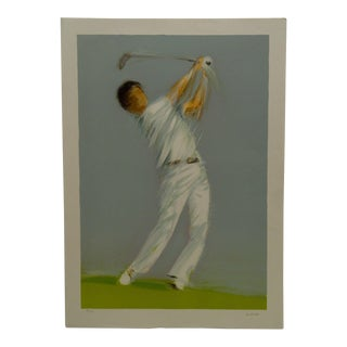 """""""Le Golfeur"""" Signed Print"""