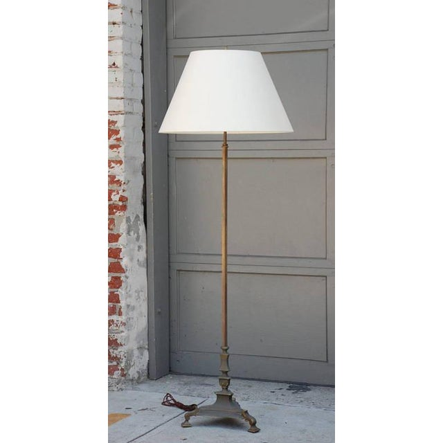 French 1940s French Bronze Floor Lamp For Sale - Image 3 of 6