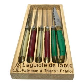 """""""La Guiole De Table"""" Dinner Knives Set - Set of 6 For Sale"""