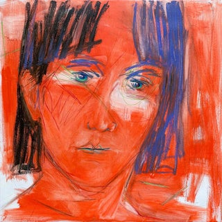 """""""Scarlet"""" by Trixie Pitts Abstract Portrait Oil Painting For Sale"""