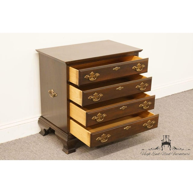 Mahogany Chippendale Style 4 Drawer Solid Mahogany Accent Chest For Sale - Image 7 of 13