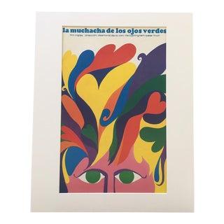 """1970s Vintage """"La Muchacha De Los Ojos Verdes"""" Film Poster Print For Sale"""