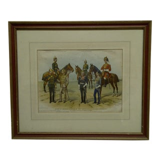"""Vintage """"Types of British Officers of the Native Cavalry Regiments"""" Framed Print by R. Simkin For Sale"""
