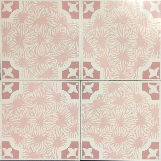 Contemporary Celerie Kemble Blushing Blooms Hardwood Tile - Sample Tile For Sale - Image 3 of 5