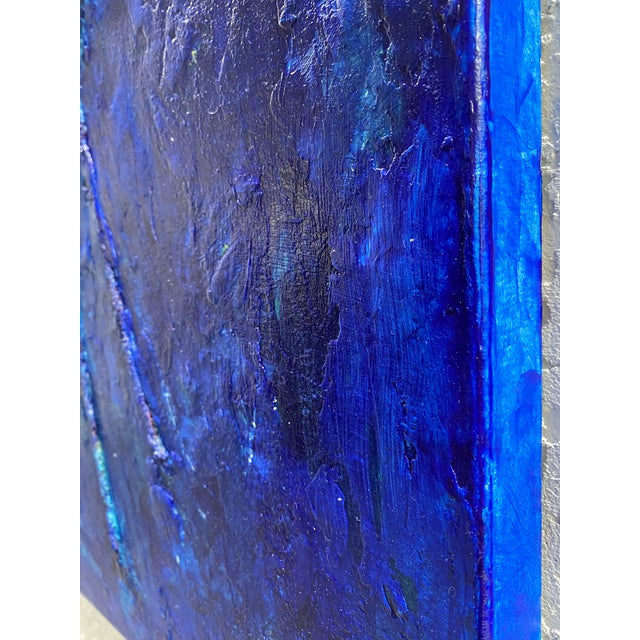 Abstract Bright Blue Abstract Original Painting For Sale - Image 3 of 6