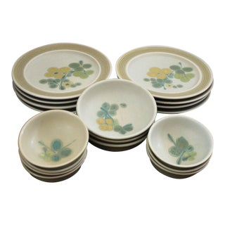 Mid-Century Franciscan Pottery Pebble Beach Dinnerware For Sale