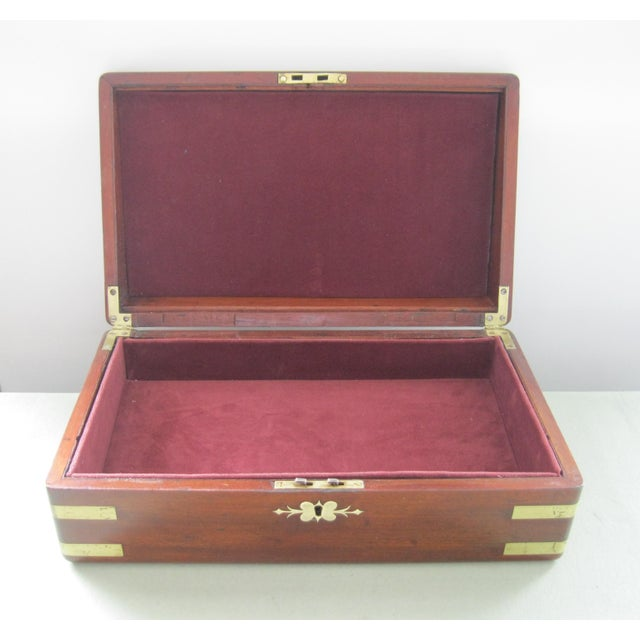Traditional 19th Century English Traditional Flaming Mahogany Document Box For Sale - Image 3 of 6