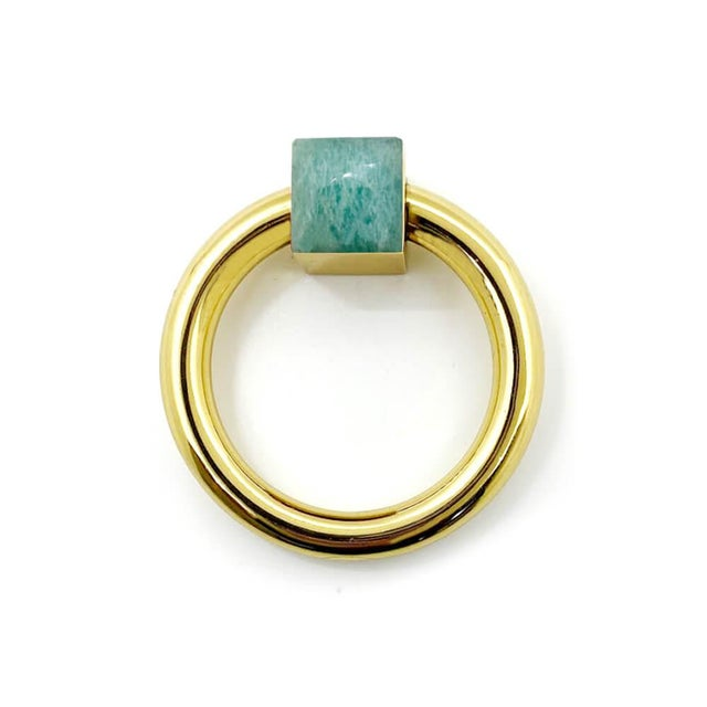 Solid Brass Ring with embelleshed gemstone of your choice.