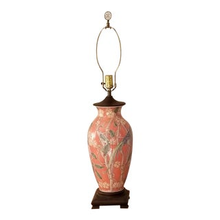 Late 20th Century Asian Ceramic Lamp For Sale