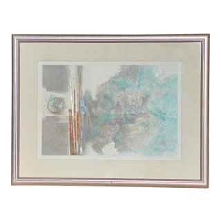 "Robert Alan DeVoe ""Striding Moon"" Monoprint C.1987 For Sale"