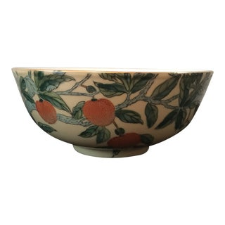 Gump's Mid-Century Orange Tree Motif Bowl For Sale