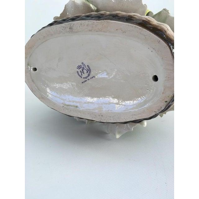 Vintage Italian Crown Capodimonte Porcelain Floral Arrangement For Sale - Image 10 of 11
