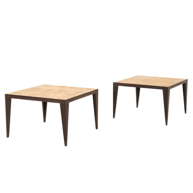 Pair of Roberto Sorrendoguy End Tables For Sale