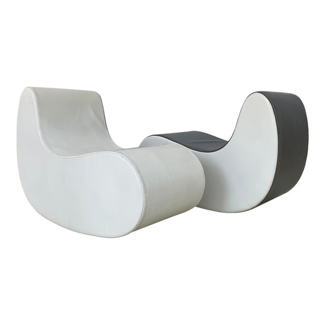 1960s Italian Rocking Boomerang Chairs - a Pair For Sale