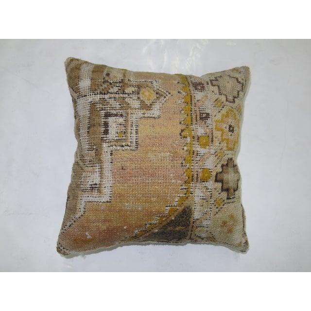 Vintage Turkish Anatolian Rug Pillow - Image 2 of 3