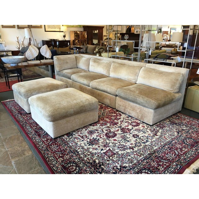 Kreiss 4-Piece Beige Sectional - Image 9 of 10
