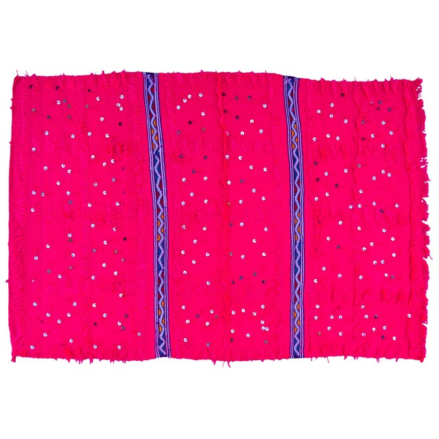 Pink Moroccan Berber Throw For Sale