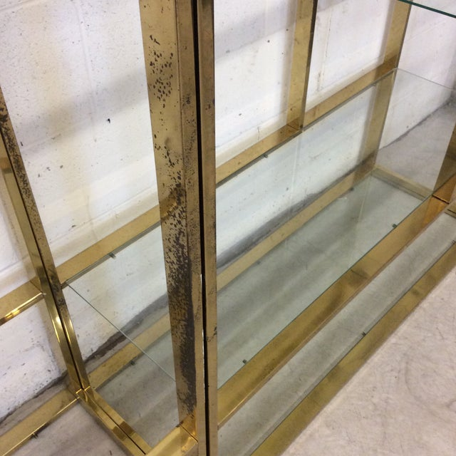 1970s Brass & Glass Etageres - a Pair For Sale In Richmond - Image 6 of 11