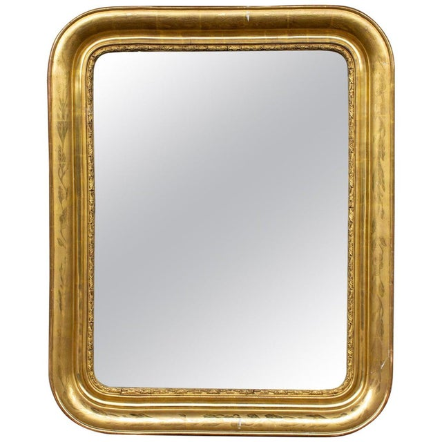 Antique French Gilt Louis Philippe Mirror, Late 19th Century For Sale - Image 13 of 13