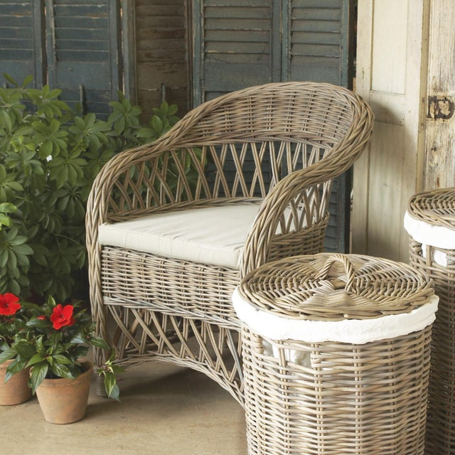 Kenneth Ludwig Chicago Kennith Ludwig Chicago Normandy Rattan Dining Chair For Sale - Image 4 of 6