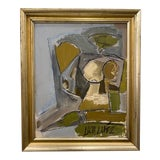 Image of Abstract Figure Painting by Lucia Lopez For Sale