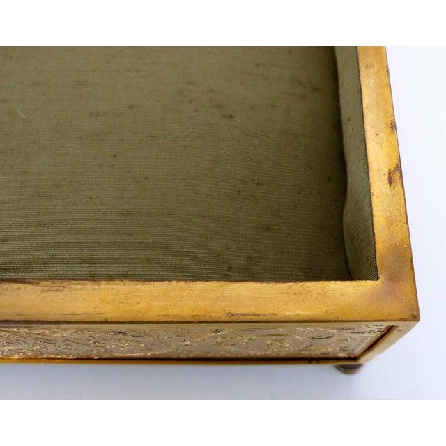 19th Century European Gilt Bronze Dresser Box With Enamel Plaque For Sale In Miami - Image 6 of 9