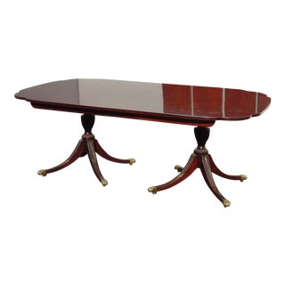 Vintage Kindel Dining Room Table Ball & Claw Winterthur Collection W Four Leaves For Sale