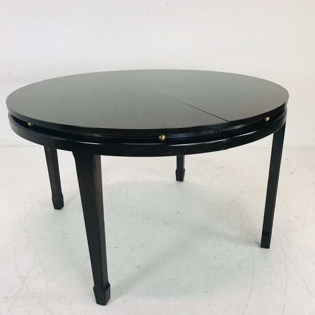 Black Widdicomb Dining Table For Sale - Image 8 of 9