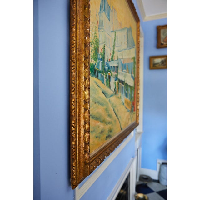 Large Impressionist Oil Painting of a French Street Scene For Sale In Atlanta - Image 6 of 13