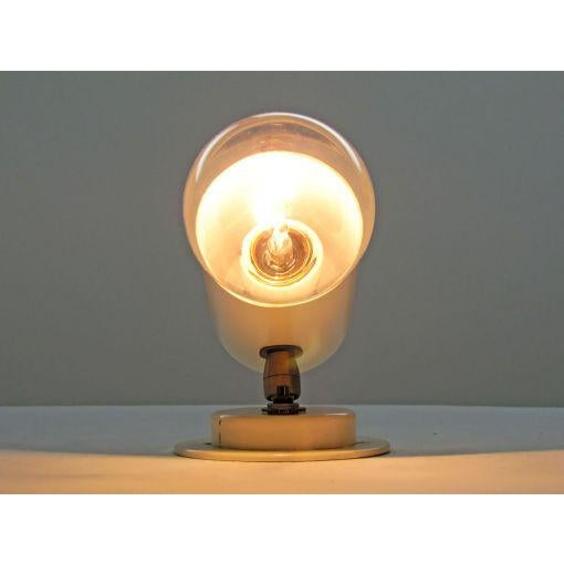 White Pair of Minimalistic Stilnovo Adjustable Brass White Wall Lights For Sale - Image 8 of 10
