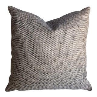 Black & Blue Weave Pillow For Sale