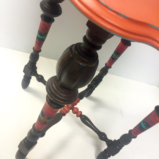 Orange Spice Accent Table - Image 6 of 8
