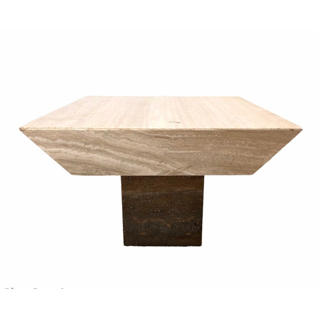1980s 198 PostModern Marble Coffee Table For Sale - Image 5 of 5