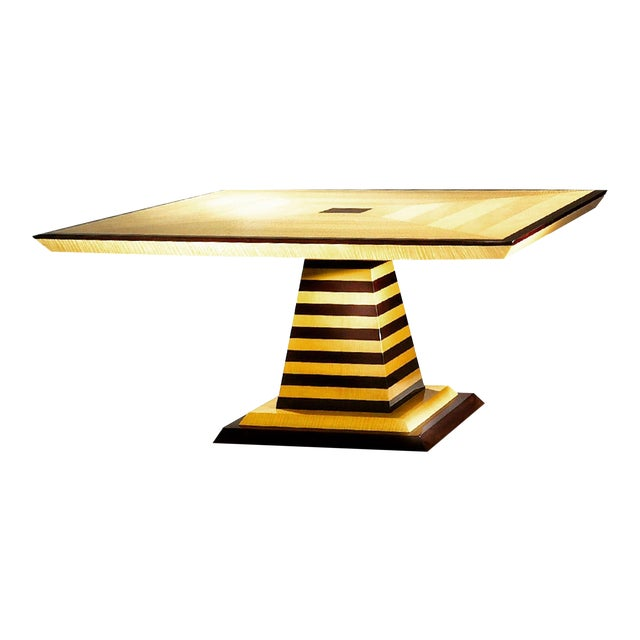 1980s Mid-Century Modern Brueton Industries Sycamore Square Egypt Table Dining Table For Sale
