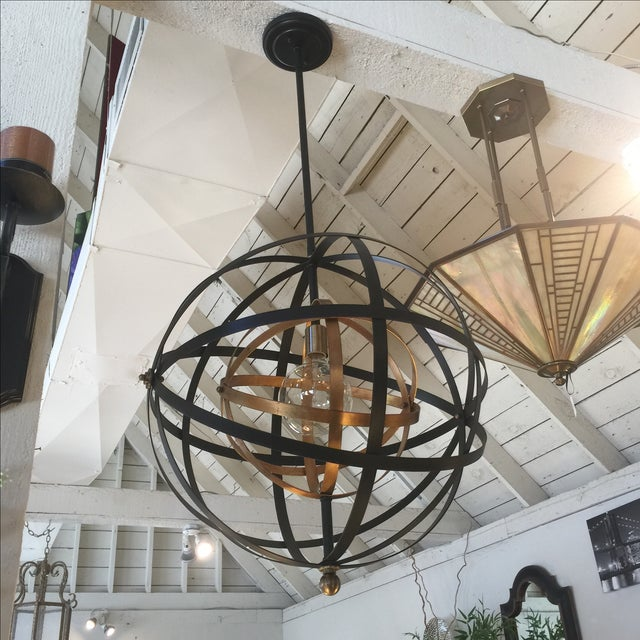 Multi colored metal makes this a very special fixture indeed. Includes one large Edison bulb. At Lowest markdown....