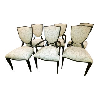 Barbara Barry for Henredon Furniture Shield Back Dining Chair-Set of 6 For Sale