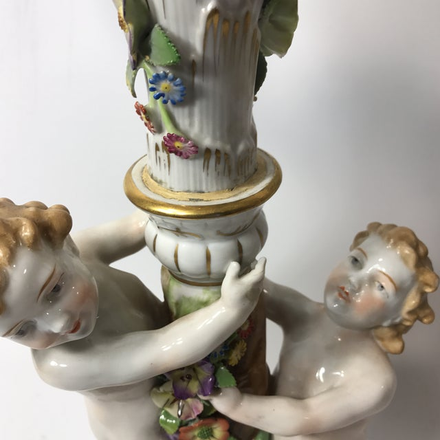 Ceramic Von Shierholz Figural Porcelain Candelabras - A Pair For Sale - Image 7 of 10